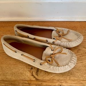 Lucky Brand Suede Loafer Slippers Flats